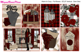 Warm & Cozy Buffalo Plaid Themed Weekly Kit (multiple options) for the Erin Condren Life Planner Vertical