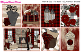 Warm & Cozy Buffalo Plaid FULL BOXES ONLY (ECLP Horizontal) multiple planner sizes available - MeganReneePlans