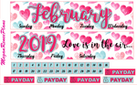 February 2019 Monthly View Planner Kit for the Erin Condren Life Planner