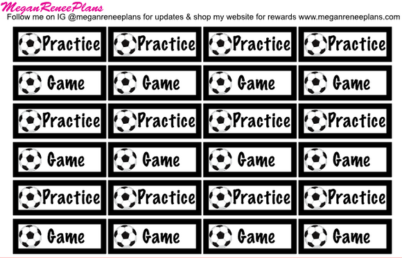 Soccer Practice / Soccer Game Planner Stickers