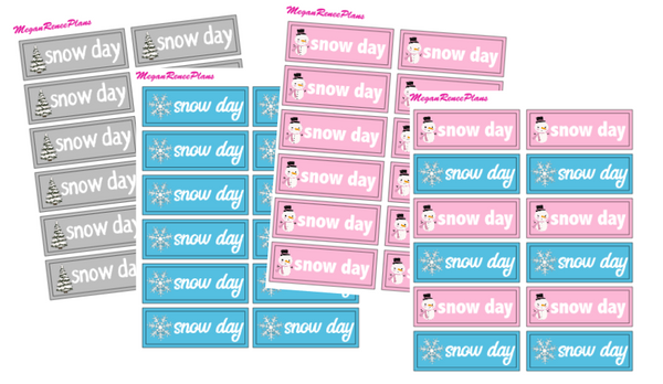 Snow Day Mini Sheet - MeganReneePlans