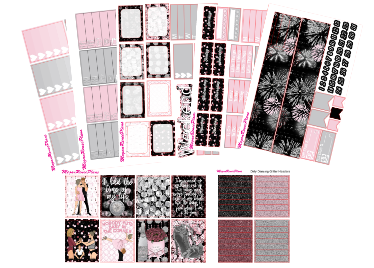 Dirty Dancing Themed Weekly Kit for the Erin Condren Life Planner Vertical