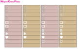Rose Gold Love Weekly Kit for the Erin Condren Life Planner Vertical