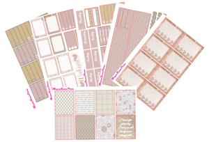 Rose Gold Love Weekly Kit for the Classic Happy Planner