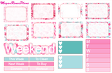Valentine's Day Weekly Kit for the Erin Condren Life Planner Vertical