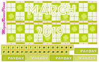 MARCH 2020 or 2021 MONTHLY VIEW KIT FOR THE CLASSIC HAPPY PLANNER - MeganReneePlans