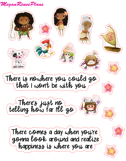 Moana Inspired Mini Deco Quote Sheet - MeganReneePlans