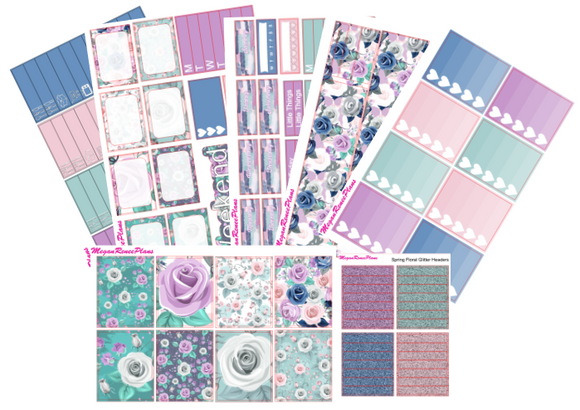 Spring Floral Weekly Kit for the Erin Condren Life Planner Vertical
