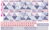 April 2020 or 2021 Monthly View Planner Kit for the Erin Condren Life Planner - Pastels - MeganReneePlans