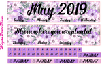 May 2019 Monthly View Planner Kit for the Classic Happy Planner