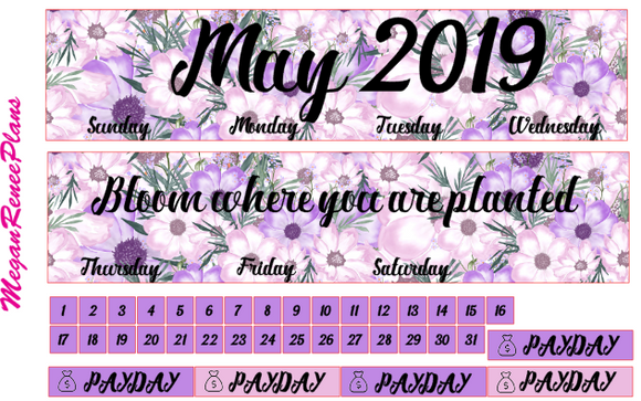 May 2019 Monthly View Planner Kit for the Erin Condren Life Planner