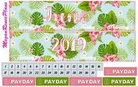 June 2019 Monthly View Planner Kit for the Classic Happy Planner
