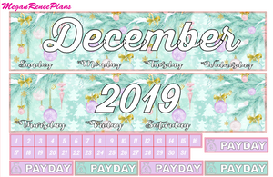December Monthly View Planner Kit for the Erin Condren Life Planner