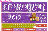 October 2020 Monthly View Planner Kit for the Classic Happy Planner - Hocus Pocus