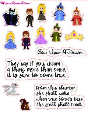 Aurora Sleeping Beauty Inspired Mini Deco Quote Sheet