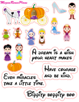 Cinderella Inspired Mini Deco Quote Sheet - MeganReneePlans