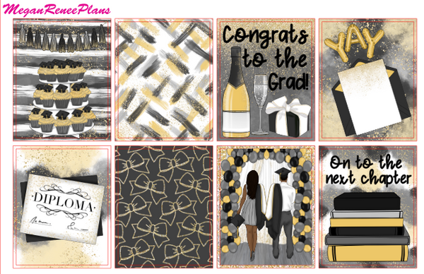 Graduation Themed Weekly Planner Kit for the Classic Happy Planner