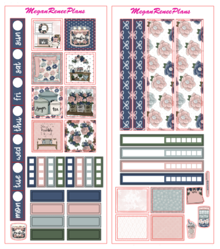 Farmhouse Chic HOBONICHI WEEKS 2 page Kit - MeganReneePlans