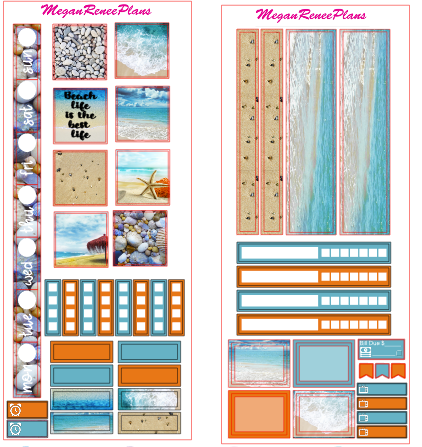 Beach Life HOBONICHI WEEKS 2 page Kit