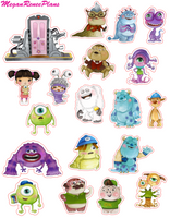 Monsters Inc / Monsters University Inspired Mini Deco Quote Sheet - MeganReneePlans