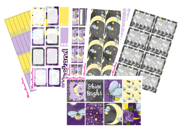 Firefly Weekly Kit for the Erin Condren Life Planner Vertical - MeganReneePlans