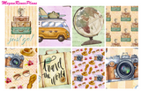 Travel Weekly Kit for the Erin Condren Life Planner Vertical - MeganReneePlans