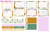 Travel Weekly Kit for the Erin Condren Life Planner Vertical