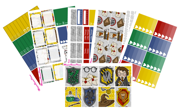 Harry Potter Themed Weekly Kit for the Erin Condren Life Planner Vertical - MeganReneePlans