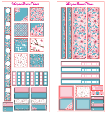 Cherry Blossom HOBONICHI WEEKS 2 page Kit