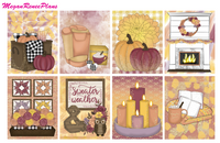 Fall Sweater Weather Weekly Kit for the Erin Condren Life Planner - MeganReneePlans