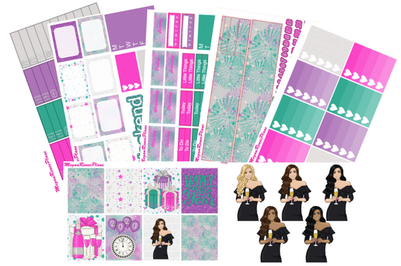 Happy New Year Weekly Kit for the Erin Condren Life Planner Vertical