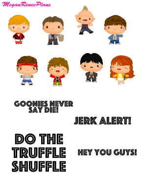 Goonies Inspired Mini Deco Quote Sheet