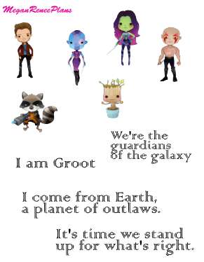 Guardians of the Galaxy Inspired Mini Deco Quote Sheet
