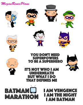 Batman Inspired Mini Deco Quote Sheet