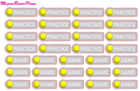 Tennis Practice Tennis Game Functional Stickers - MeganReneePlans
