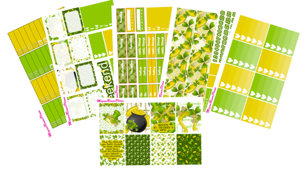St. Patrick's Day Themed Weekly Kit for the Classic Happy Planner - MeganReneePlans