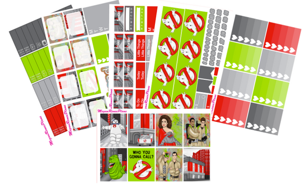 Who You Gonna Call Ghostbusters Themed Weekly Kit for the Erin Condren Vertical Life Planner - MeganReneePlans