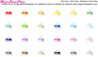 Sick Day Functional Stickers Full Size or Mini Size Options on Matte Paper - MeganReneePlans