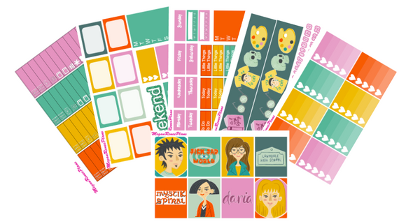 Daria Themed Weekly Kit for the Erin Condren Vertical Life Planner