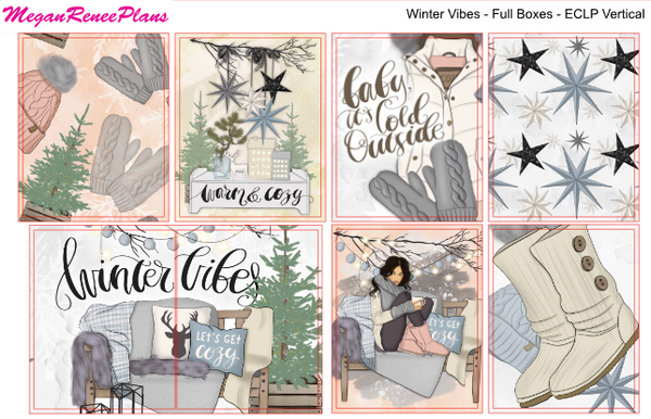 Winter Vibes Weekly Kit for the Classic Happy Planner