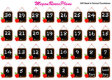 Back to School Countdown Matte Planner Stickers