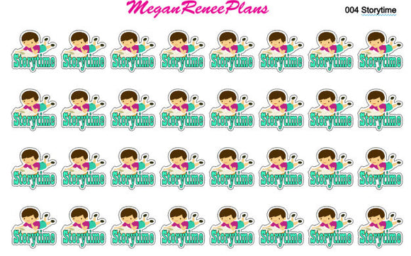 Boy or Girl Storytime Matte Planner Stickers for the Erin Condren Life Planner ECLP Happy Planner