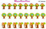 Treehouse Playdate Matte Planner Stickers for the Erin Condren Life Planner ECLP Happy Planner - MeganReneePlans