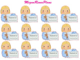 Sleepover Boy or Girl multiple hair colors Matte Planner Stickers