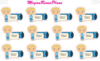 Sleepover Boy or Girl multiple hair colors Matte Planner Stickers - MeganReneePlans