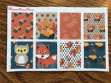Fall Fox Autumn Owl Weekly Kit for the Classic Happy Planner