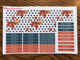 Fall Fox Autumn Owl Weekly Kit for the Erin Condren Life Planner Vertical - MeganReneePlans