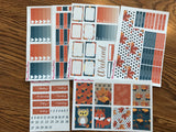 Fall Fox Autumn Owl Weekly Kit for the Erin Condren Life Planner Vertical