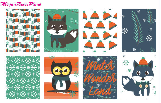 Winter Fox Weekly Kit for the MAMBI Happy Planner Classic
