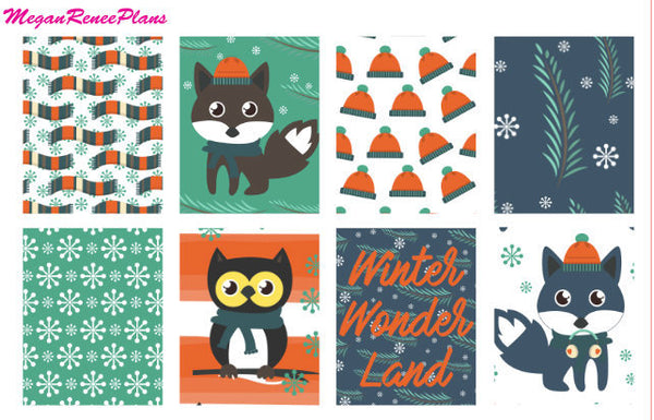 Winter Fox Weekly Kit for the MAMBI Happy Planner Classic - MeganReneePlans